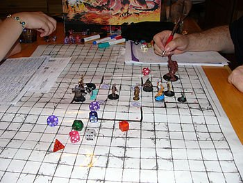 A D&D game session in progress perception