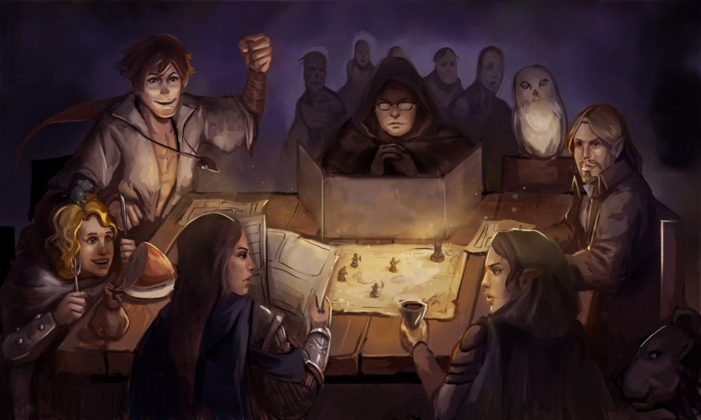 RPG game master player D&D game player agency cooperative stories