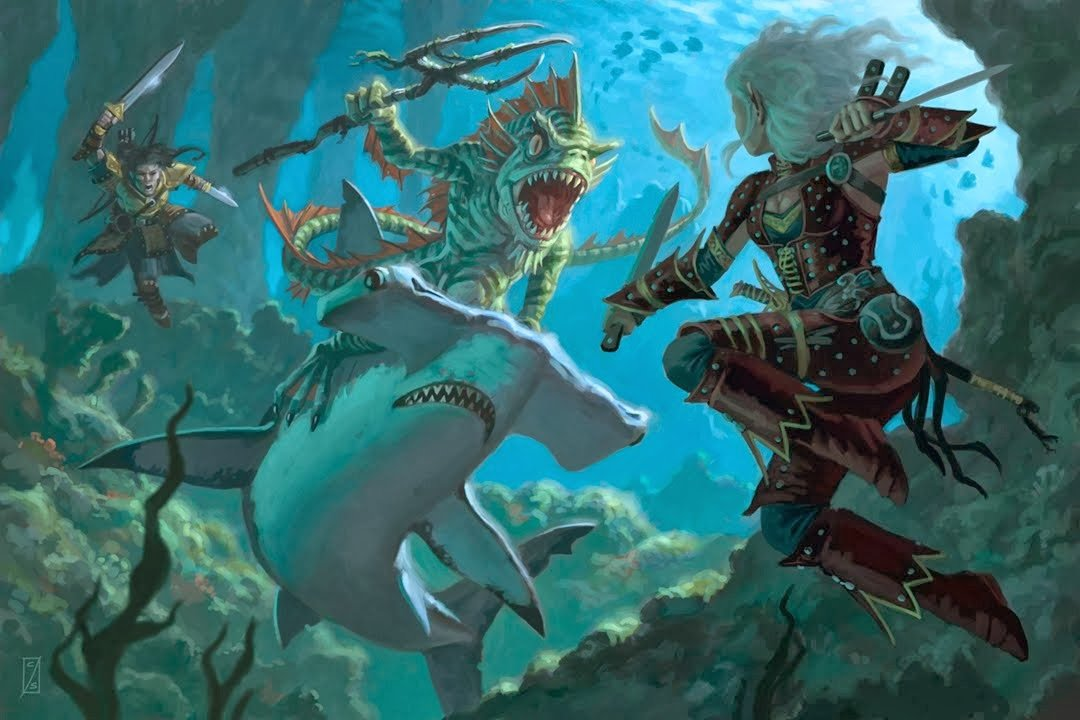 aquatic adventures in D&D underwater D&D game
