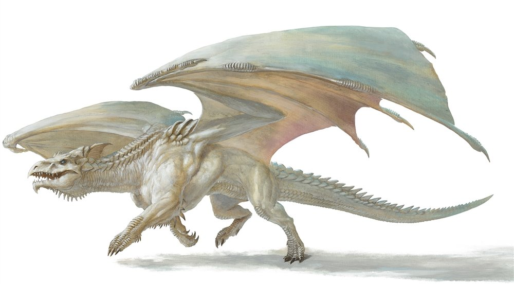 introducing a dragon D&D dragon lairs white dragon lairs