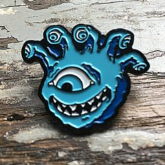 eyegor enamel pin blue