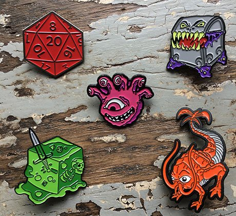 RPG Enamel Pins
