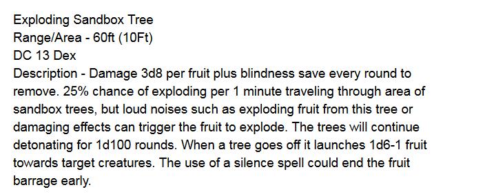 Dynamite Tree