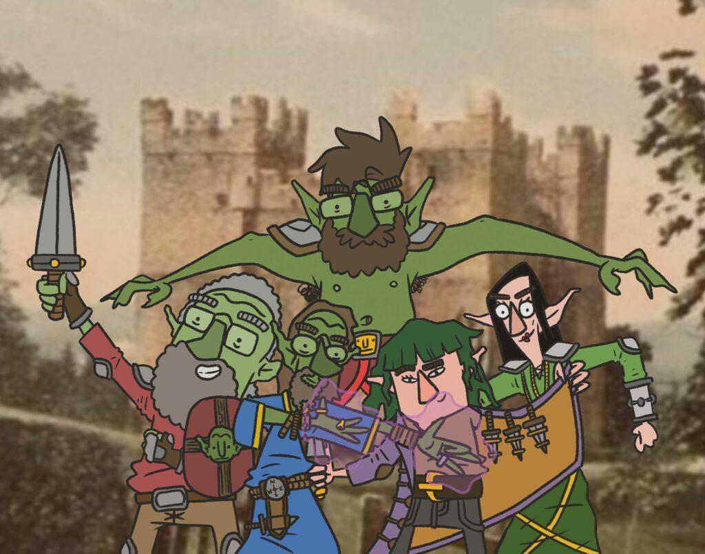 We All Live In A Castle web comic D&D