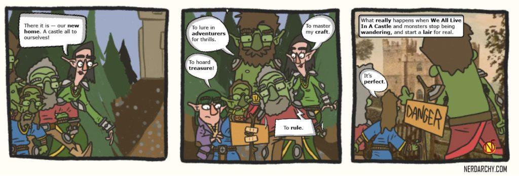 D&D monsters fantasy webcomic WALIAC