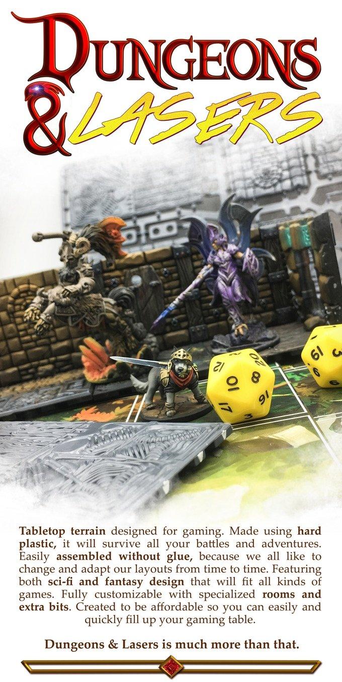 Dungeons & Lasers modular dungeon tiles