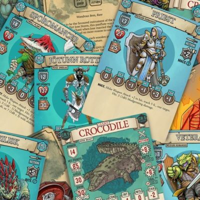 Dungeon Draw Kickstarter RPG cards