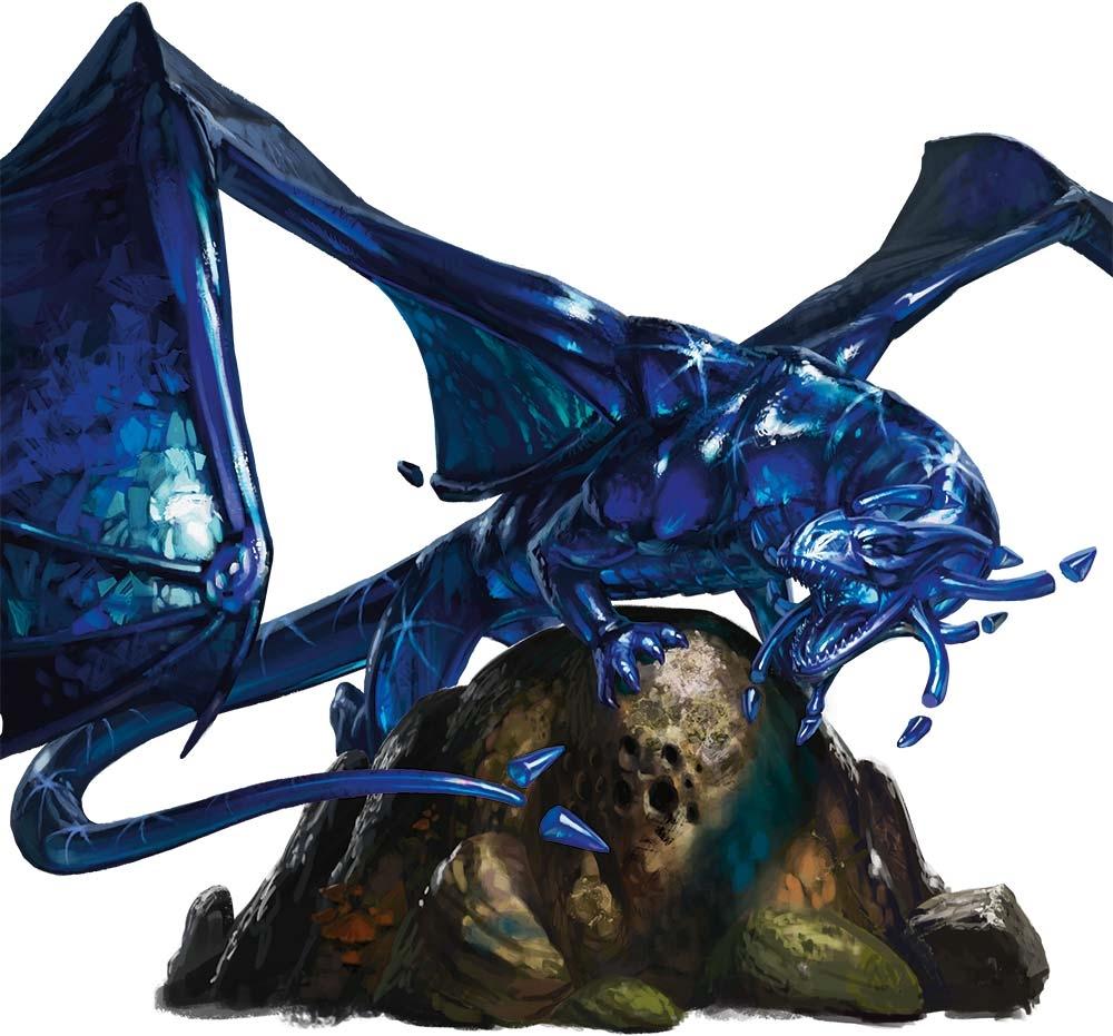5E D&D sapphire dragon gem dragon
