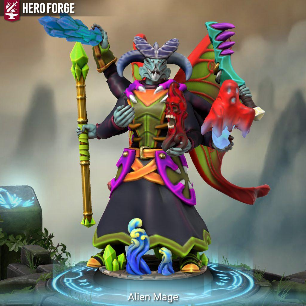 Hero Forge alien 5E D&D