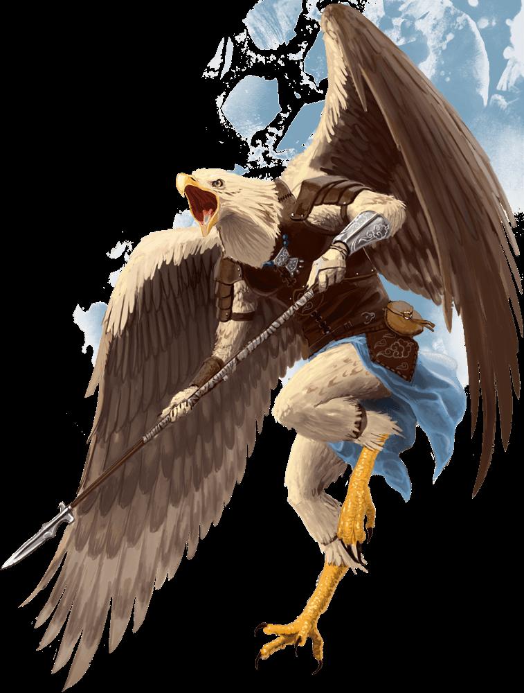 aarakocra 5E D&D flying character